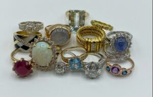 Various silver and gold rings